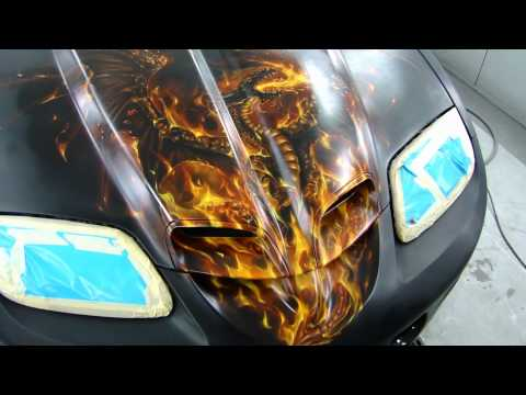 Mike Lavallee Painting the 1999 Trans Am