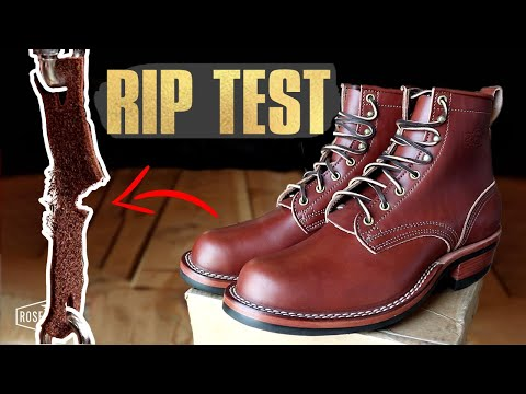 Are $550 VEGETABLE Tanned Boots As Durable? - (CUT IN HALF) - Nicks Boots Falcon
