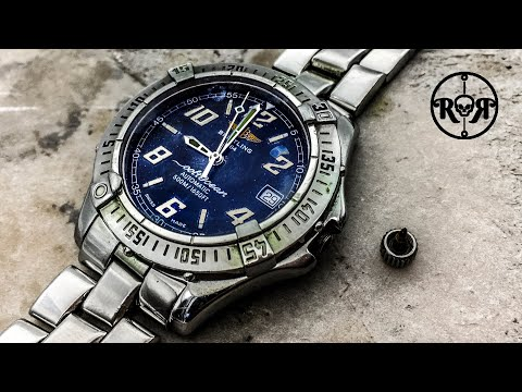 Restoration of a rusty Breitling Colt Ocean automatic watch - water damaged Breitling B17 service