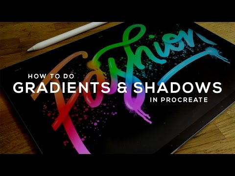 How to make GRADIENTS and SHADOWS - Procreate Tutorial