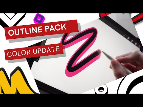 *COLOR UPDATE* - OUTLINE PACK FOR PROCREATE