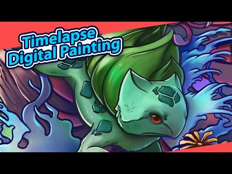 "Time Lapse Digital Painting - ""Bulbasaur Tattoo"""