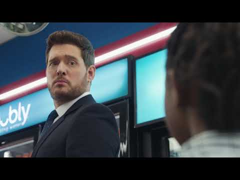 Michael Bublé vs bubly sparkling water Super Bowl 2019 Ad