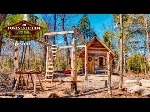 Timber Frame | The Forest Kitchen | Off Grid Log Cabin Build, Ep.1 S1