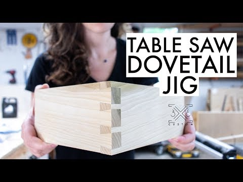 Dovetail Jig for the Table Saw // Woodworking Joinery