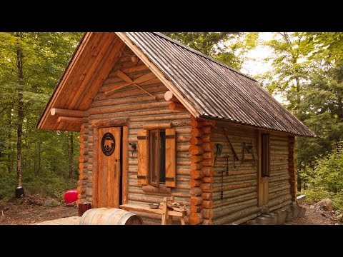 Log Cabin Building TIMELAPSE Built By ONE MAN Alone In The Forest