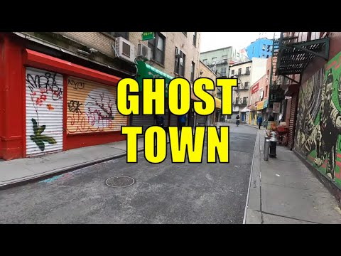 ⁴ᴷ⁶⁰ NYC State of Emergency : Chinatown, Manhattan (March 19, 2020)