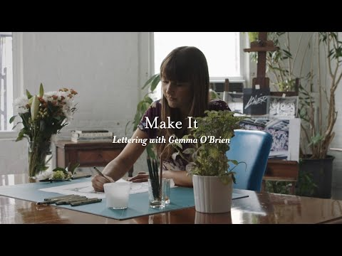 Make It: Lettering with Gemma O'Brien