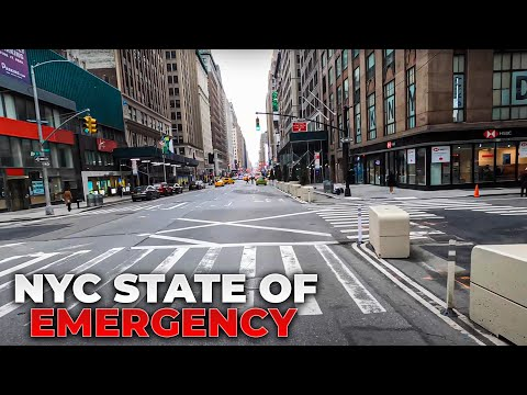 ⁴ᴷ⁶⁰ NYC State of Emergency : Midtown (Times Square, Penn Station, Herald Square) (March 19, 2020)
