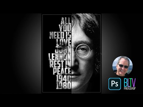 Photoshop Tutorial: How to Create a Powerful, Text Portrait Poster