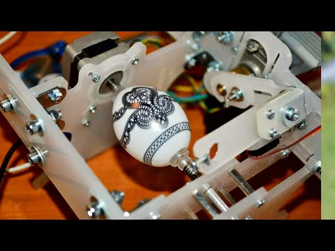 Eggbot: Robot Easter Egg Painter (Open Source Automatic Egg Drawing Machine)