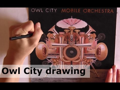 Rajacenna drawing Owl City album Mobile Orchestra - commissioned by Adam Young
