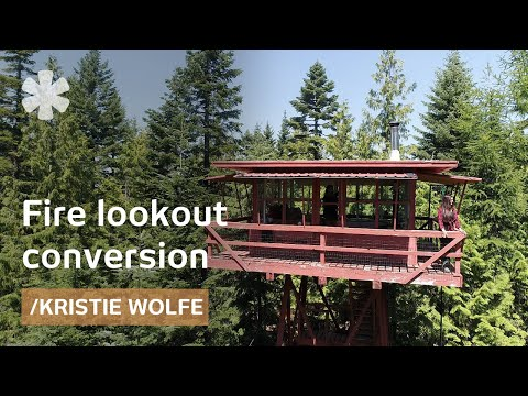 Kristie Wolfe turns 1950s fire lookout into off-grid shelter