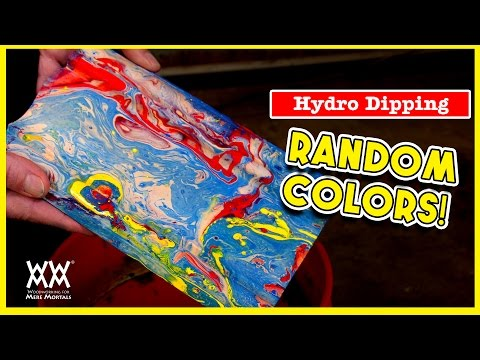 Hydro Dipping. How to paint a fun color effect on wood.
