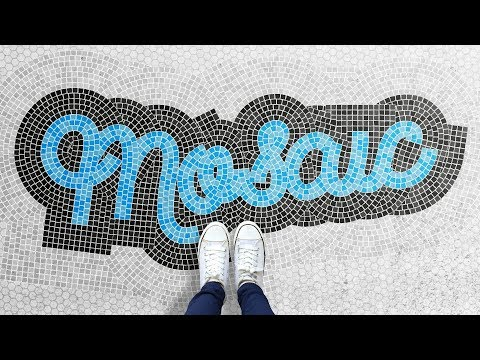 """How To Create a """"Fauxsaic"""" Mosaic Text Effect (Illustrator & Photoshop Tutorial)"""