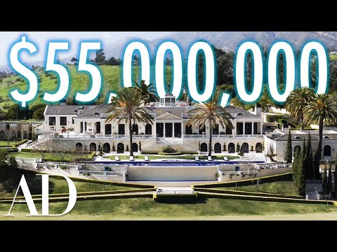 Inside a $55M Mansion With a Helicopter Hangar | On The Market | Architectural Digest