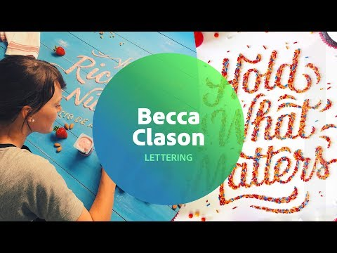 Live Lettering with Becca Clason 1 of 3
