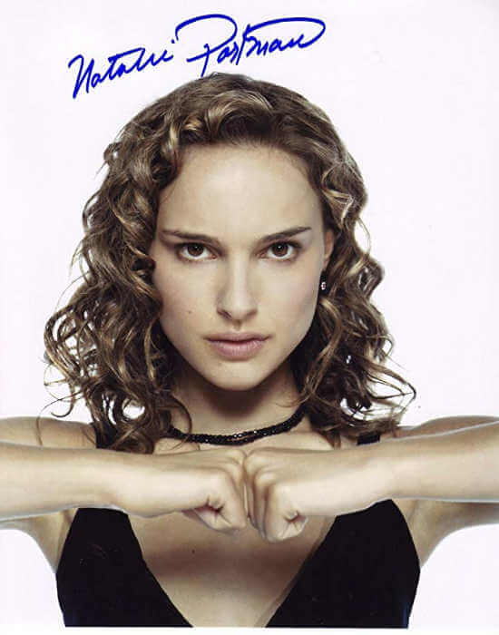 Autógrafo Natalie Portman