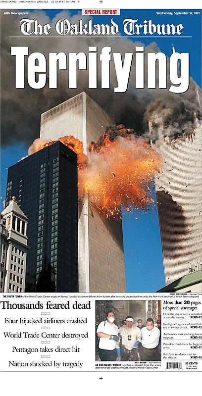 portadas de periódicos 11 septiembre 2001