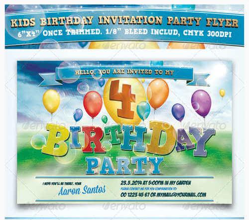 Tarjetas De Invitación Para Fiestas De Niños Y Niñas