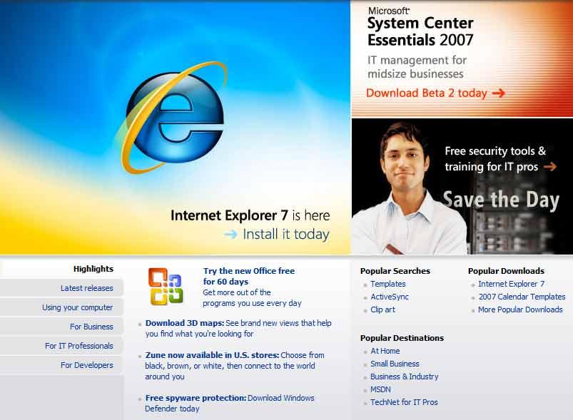 diseño web Microsoft