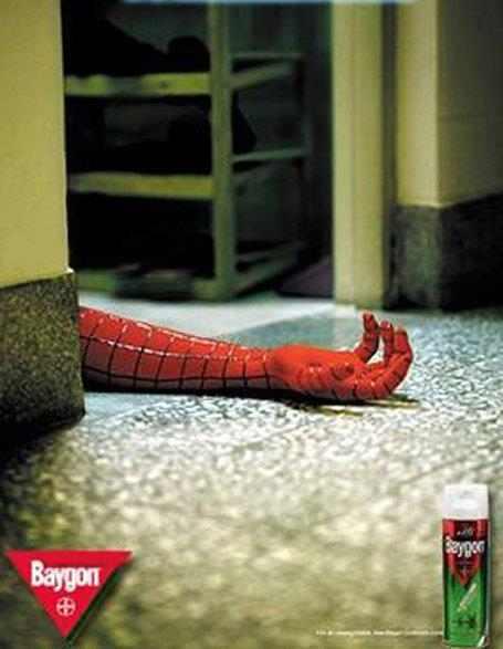 publicidad con Spiderman