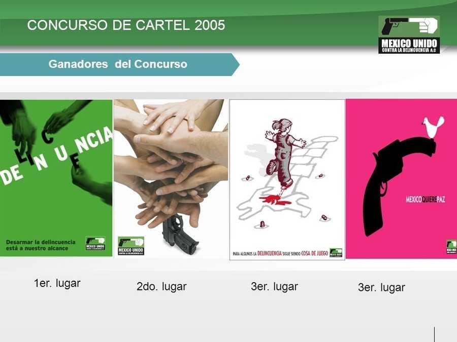 posters para México unido contra la delincuencia