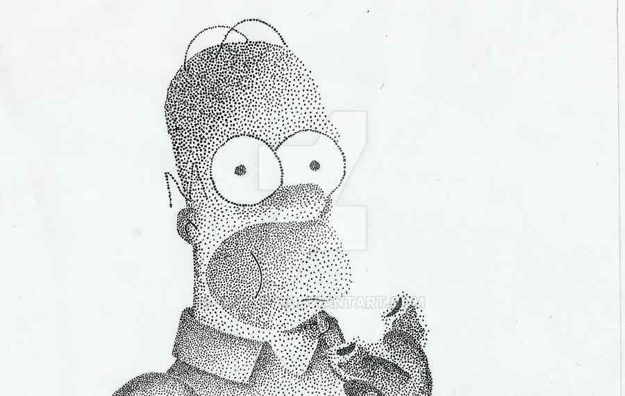 dibujos en puntillismo
