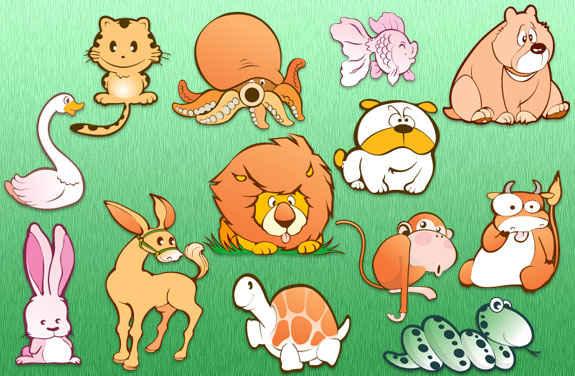 animales en vectores