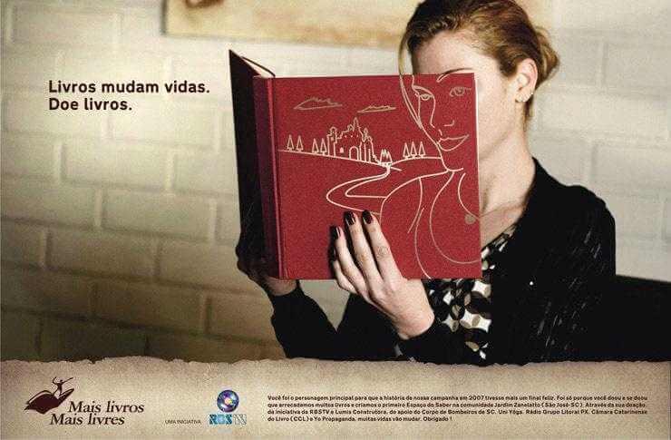 publicidad para donar libros