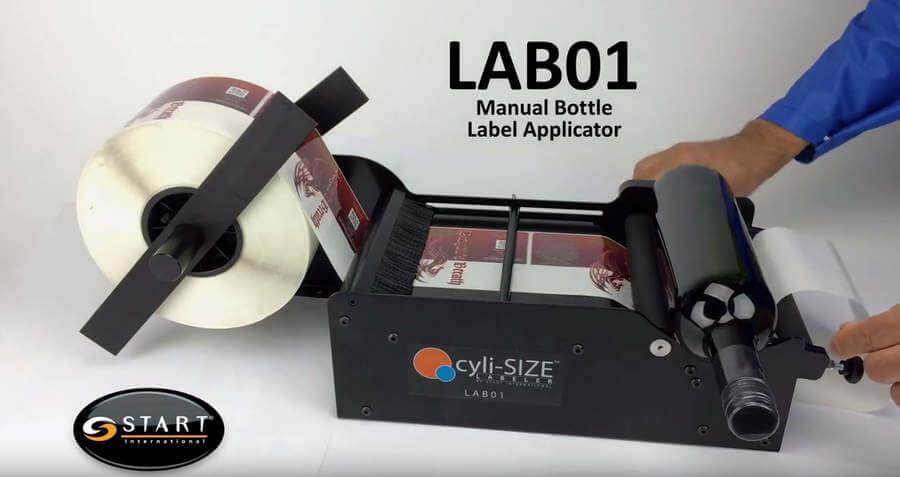 máquina pegadora de etiquetas