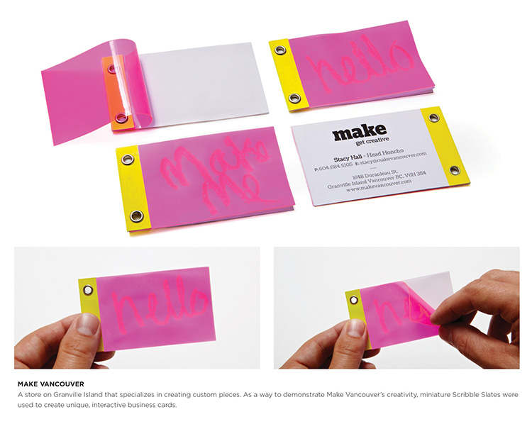 tarjeta de presentación con doble uso