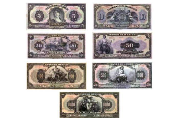 billetes antiguos de México