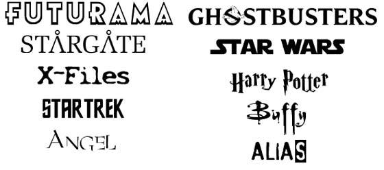 tipografías de películas