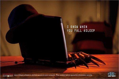 publicidad anti piratería