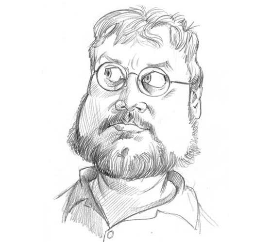 Caricatura de Guillermo del Toro