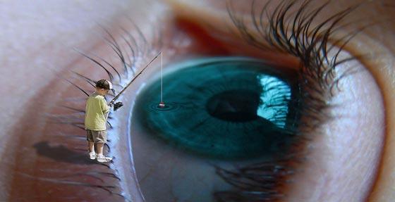 ojos para pescar