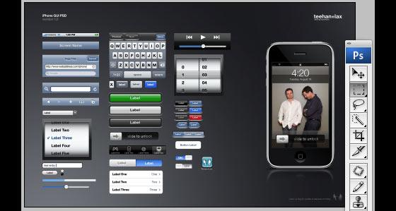 iphone botones y menús