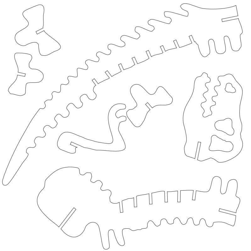 plantillas de esqueletos de dinosaurios para armar