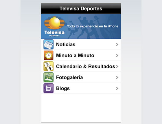 televisa deportes en iPhone