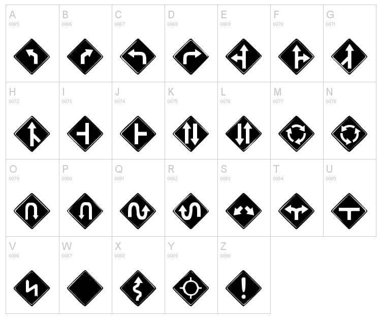 Tipografía de signos