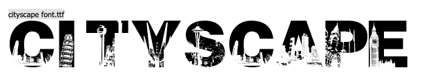 letras en forma de edificios