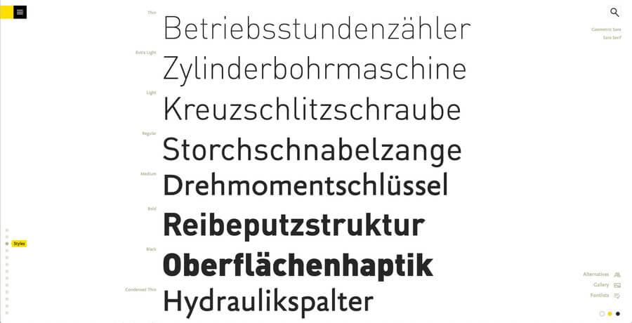 catálogo de tipografías