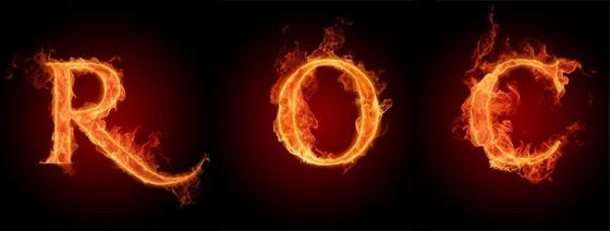 tipografía fuego