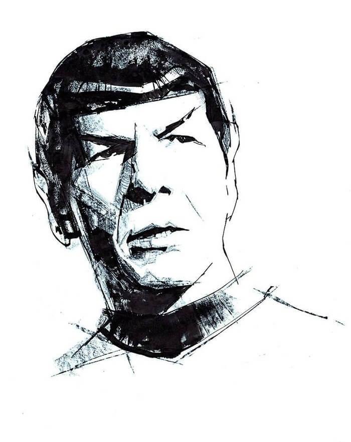 Dibujo Star Trek