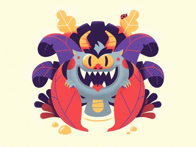 Ilustraciones de monstruos