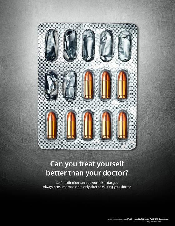 campaña de publicidad contra la automedicación