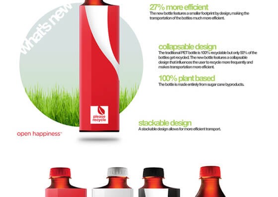 botellas ecológicas de Coca-Cola