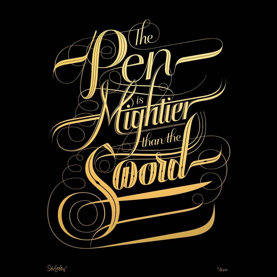 trabajo de lettering