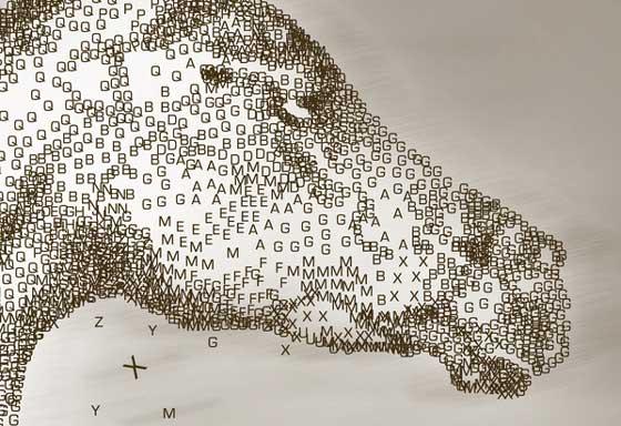 figuras formadas por tipografías